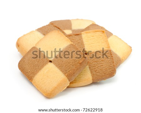 Delicious Cookies Isolated on White Background - stock photo