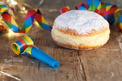 Delicious donuts for Mardi Gras, Birthday, New Year's Eve
