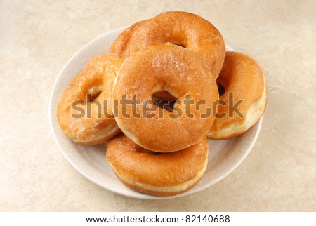 Delicious  donuts in the plate