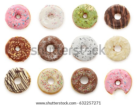 Shutterstock Delicious donuts isolated on white