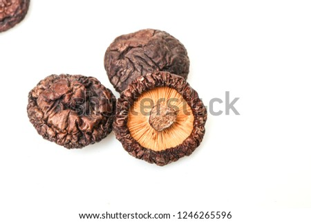 Delicious dried shiitake mushrooms #1246265596