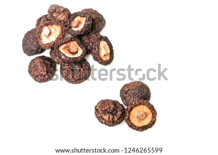Delicious dried shiitake mushrooms #1246265599