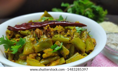 Delicious, fiber rich and healthy Cluster beans fry