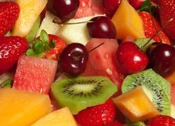Delicious fresh fruit platter selection