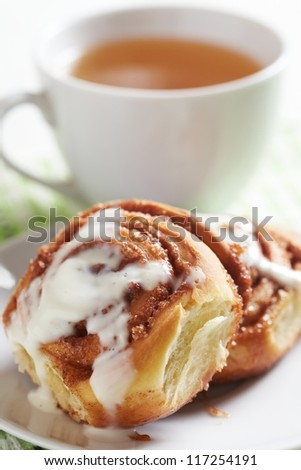 Delicious Fresh Homemade Cinnamon Rolls for breakfast