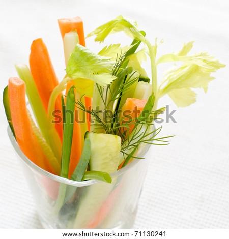 Delicious fresh vegetable appetizer