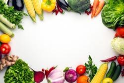 Delicious fresh vegetable food mockup
