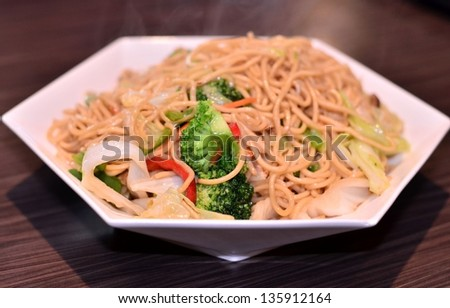Delicious fried noodle dish