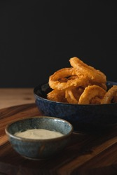 Delicious Fried Onion rings with sauce