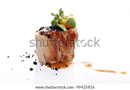 Delicious gourmet food on the table