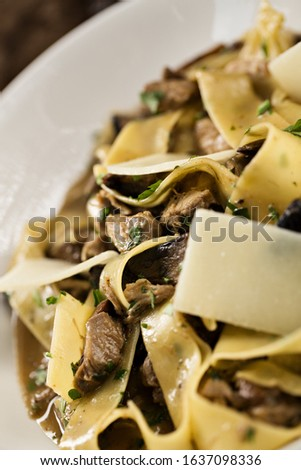 Delicious Gourmet Pasta with sauce and beautiful background.