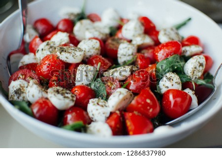 delicious green salad plated food images colourful cooking photography