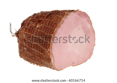 Delicious ham isolated on white background