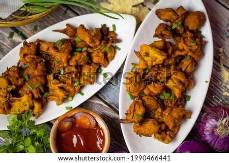 delicious handmade pakora in India