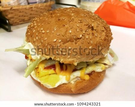 Delicious Homemade Burger  #1094243321