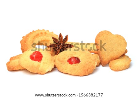 Delicious homemade grandmas christmas cookies from Alsatian in France