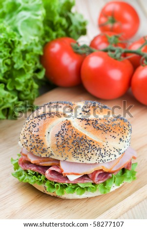 Delicious  homemade sandwich