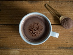 Delicious hot chocolate served with mini scones. The perfect beverage for the winter months.