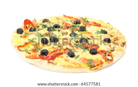 delicious Italian pizza isolated on a white background. studio photography