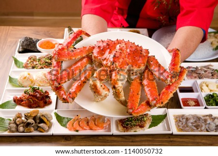Delicious King Crab on a plate #1140050732