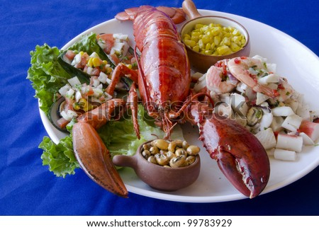 Delicious lobster served in a seafood restaurant