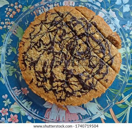 Delicious looking homemade cacao cake closeup Stok fotoğraf ©