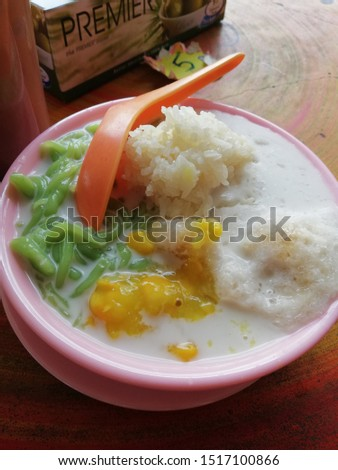 delicious Malaysian food called Cendol Durian