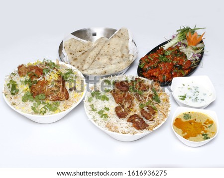Delicious mixture of home-cooked dishes with beautiful colors
