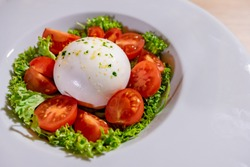 Delicious Mozzarela Salad and With Cherry Tomatoes