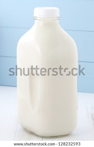 Delicious, nutritious and fresh half gallon Milk Bottle.