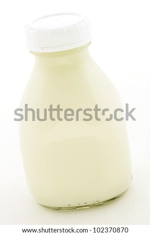 Delicious, nutritious and fresh Pint Glass Milk Bottle.