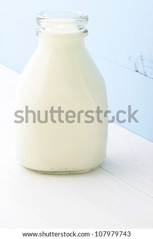 Delicious nutritious and fresh Pint Glass Milk Bottle.