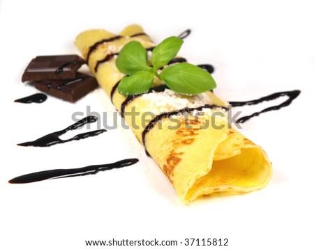 delicious pancake - stock photo