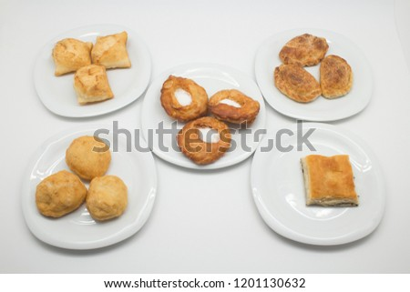 Delicious pastry food. A member of a Turkic people living in Tatarstan and various other parts of Russia and Ukraine. They are the descendants of the Tartars who ruled central Asia in the 14th century Stok fotoğraf ©