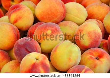 Delicious Peaches - Closeup