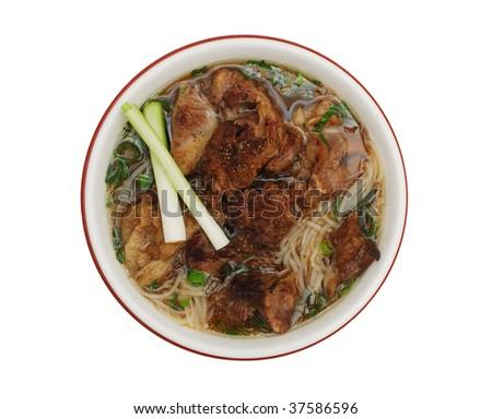Delicious 'pho' vietnamese food - stock photo