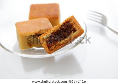 delicious pineapple cake with fork