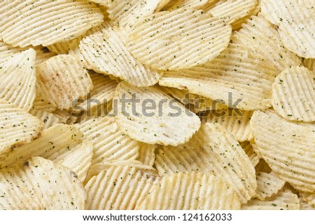 Delicious potato chips