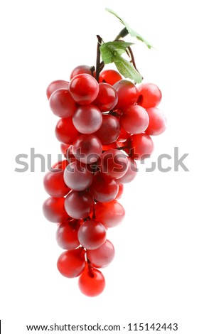 Delicious ripe bunch of grapes isolated on white background