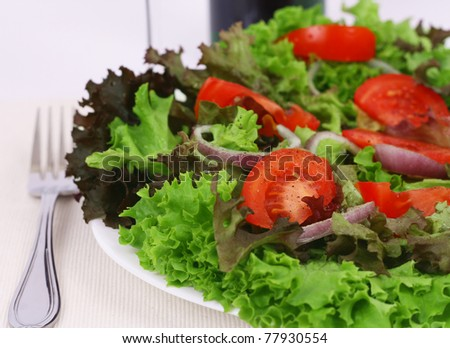 Delicious salad closeup