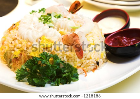 rice garnishing