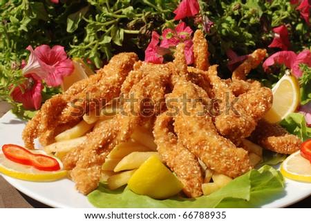 Delicious Sesame and Honey Chicken Sticks