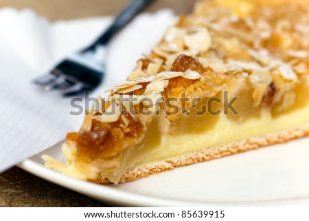 Delicious slice of freshly baked apple pie