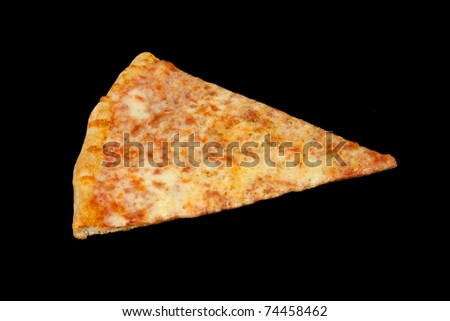 Delicious Slice of Pizza with a Black Background