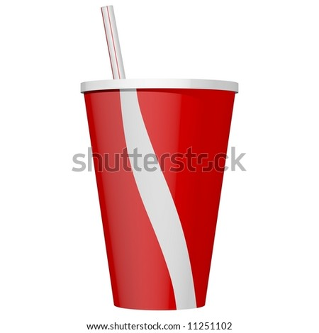 Delicious soda beverage isolated on white