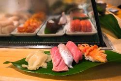 Delicious Sushi at Japan Tokyo Tsukiji Market Sushi Bar