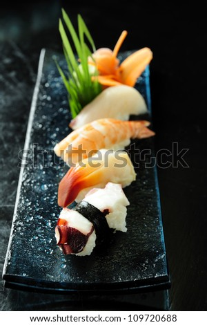 Delicious sushi rolls,japan traditional food