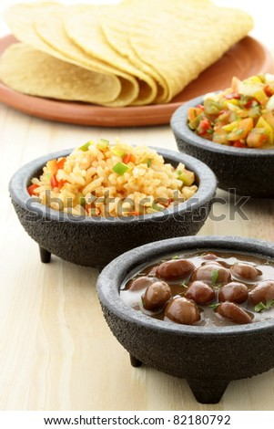 delicious taco ingredients, used to make your tacos and enjoy the fun of creating you own personal meal. - stock photo