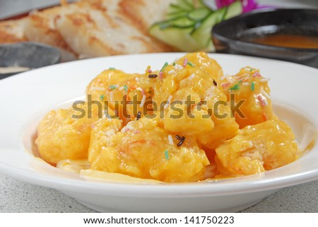Delicious Taiwan's seafood  - Shrimp ball with pineapple