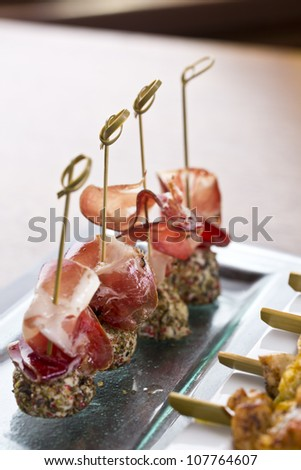 delicious tapas / appetizer food